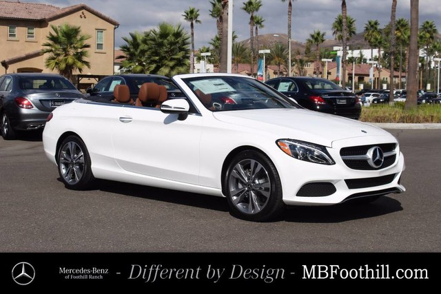 New 2018 mercedes benz c class c 300 cabriolet in foothill for Mercedes benz foothill ranch service specials